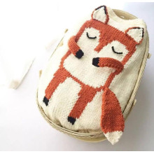 New Design Baby Knitting Filtar Animal Printed Ren Virka Bedding lindar baby Minky Filtar
