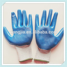 Guantes revestidos de látex, guantes de goma de seguridad, guantes de seguridad industriales recubiertos de goma azul