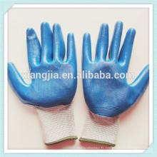 Gants enduits de latex, gants en caoutchouc de sécurité, gants de sécurité industriels enduits en caoutchouc bleu Workman