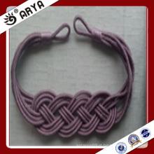 Design especial de tecido artesanal de cortina decorativa para decoração de cortinas