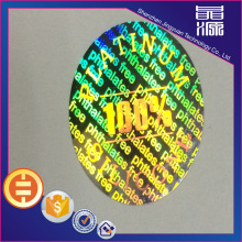 PET Laser Security Hologram Sticker Label