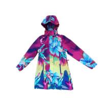 Impermeable con capucha de PVC para mujer