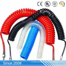 Alta elasticidade colorido plástico macio flexível TPU espiral bobina tubo de marcação de cabo de impressão