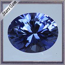 Saphir éclatant ovale de haute qualité de coupe de qualité supérieure pour des bijoux