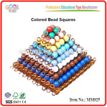 Education Montessori Material Toys Colored Bead Squares Only