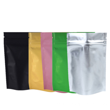 Front clear American almonds silver zipper bag