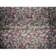 Tela do poliéster Floral impresso cetim para personalizar-feito vestido da senhora