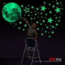 Pegatina decorativo personalizado Glow Moon Flat o 3D en la etiqueta de la pared The Dark Stars