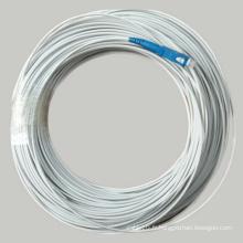 FTTH Drop Cable 1 cordon de fibre optique avec connecteur Sc Upc