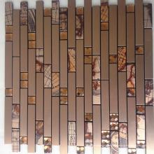 Kunst aus Marmor Mosaik Fliesen Stahl Mosaik Fliesen China Hersteller