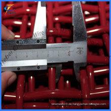 Red Crimped Wire Mesh für Bergbau