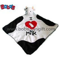 "15 ""Super macio pelúcia Cabeça de vaca Estilo Doudou Stuffed Animal Consolador Cobertor"