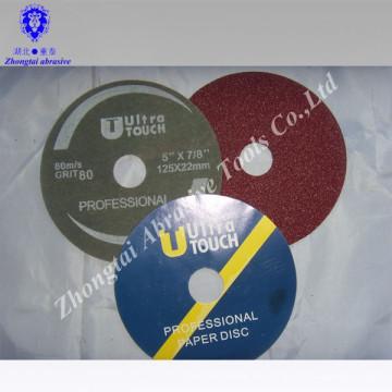 herramientas de trabajo de madera disco de fibra abrasivo