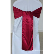 Wholesale Fancy Wine Color Cheap Wedding Glamour Satin Sash