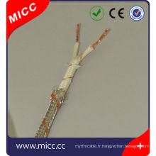 Type de câble d'extension de thermocouple Type SX-FG / FG / SSB-14 / 0.2x2-CEI / S câble multicouche de thermocouple pour la compensation