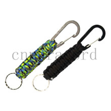 black and green camo paracord keychain  18cm  long