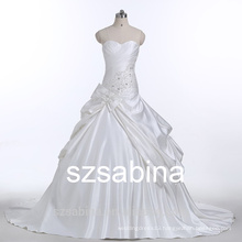 E10031 sleeveless sweetheart neck custom made wedding dress