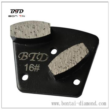 Coffin Segment Metal bond grinding pads