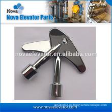 Piezas de elevador, fundición a presión de zinc, llave de bloqueo de triángulo