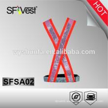 Correas elásticas reflectantes de seguridad proporciona una alta visibilidad de día y de noche para trabajar, caminar, etc