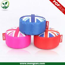 Tabouret rond du drapeau européen Union Jack, sac de haricot assis