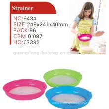 Colorful plastic kitchen strainer