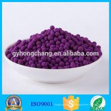 Alúmina activada impregnada con bola de permanganato de potasio al 5%
