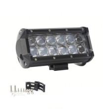 La lentille 4D LED hors route Lightbar 6.5inch 36W a mené le faisceau de tache de guide optique de hayon