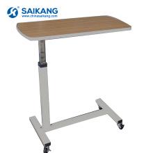 SKH042 Wooden Hospital Movable Medical Bedside Over Bed Table