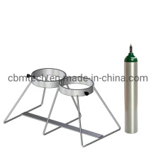 Dual Capacity Ground Stand for One D or E Style Oxygen Cylinders