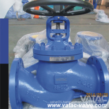 DIN/BS Pn10/Pn16 Bellow Sealed Globe Valve with RF Ending