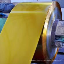 ETP TFS Th550 Dr8 dourado laqueado bobina de Strip de folha de Flandres para embalagens