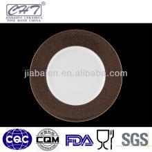 ZH004 Round hotel utilizado placa de porcelana para calcomanía