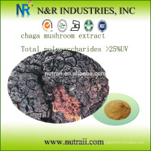 Chaga extracto de hongo Total de polisacáridos> 25% UV (Método de Anthrone - ácido sulfúrico)