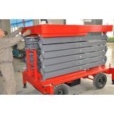 Platform Height 4000mm Hydraulic Mobile Scissor Lift For Li