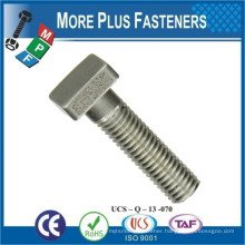 Made in Taiwan Square Head Lag Bolt Stainless Steel Carbon Steel Hot Dip Galvanized Zinc Plated