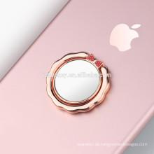 2017 benutzerdefinierte luxus bling spiegel diamant ring halter finger grip ständer ständer