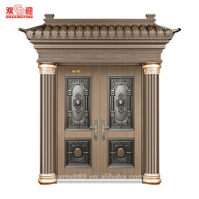 twin steel door embossing main front design entry double door with wear-resistant and watertight
