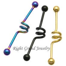 Großhandel 2014 einzigartige industrielle Ring Körperschmuck Titan Piercing