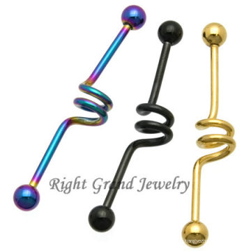 Venta al por mayor 2014 joyería industrial única del titanio de la joyería del cuerpo del anillo