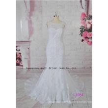 Fairy French Lace Extravagance Beach Novia de novia de alta calidad vestido de novia