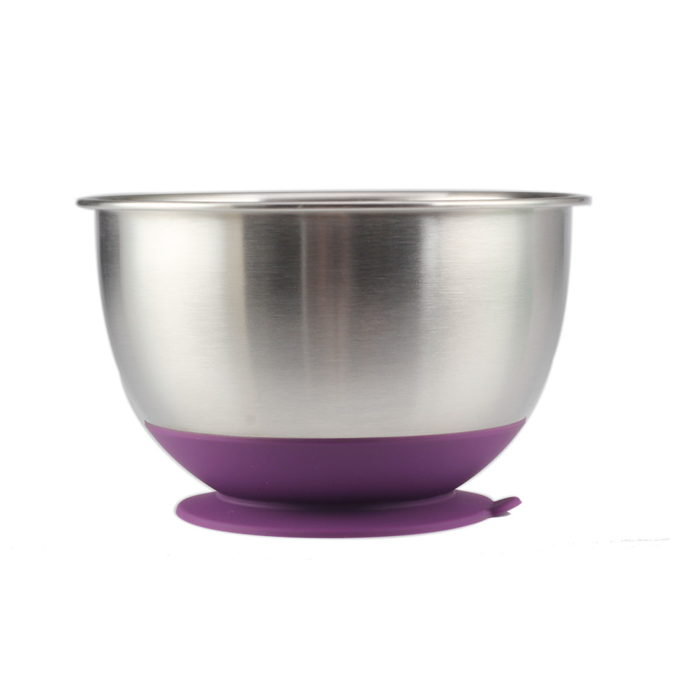 Purple Anti Slip Bottom Mixing Bowl