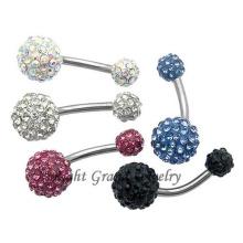 Luxury Multi Stone Shamballa Belly Button Ring