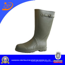 Green Color Side Buckle Accessory Rubber Boots (66140A)