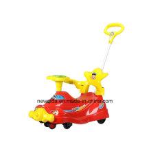 Deportes al aire libre Juguetes de plasma Swing Ride Twist Car con Handspike