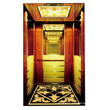 Luxury building elevator with small machine-room