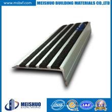 Carborundum Insert Stair Nosing Strips / Anti Slip Aluminum Stair Nosing