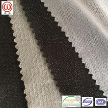 Light weight circular knitted fusible interlining for women's wear suitable for heavy wash