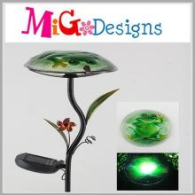 OEM Metal Glass Mushroom Shaped Solar Light Stake