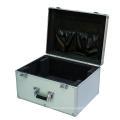 Boîte en aluminium argenté avec le panneau en métal brossé (keli-D-50)